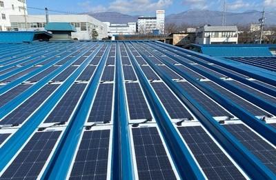 Кровельная фотоэлектрическая станция с модулем S1 Sunport Power начала работать в Японии