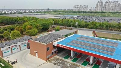 Sinopec запустила первую углеродно-нейтральную заправочную станцию в Китае