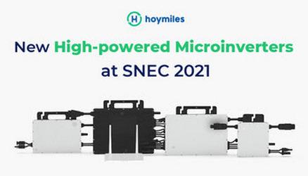 На выставке SNEC 2021 линейку микроинверторов высокой мощности представила Hoymiles