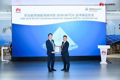 Серия продуктов Huawei LUNA2000 сертифицирована компанией TUV Rheinland