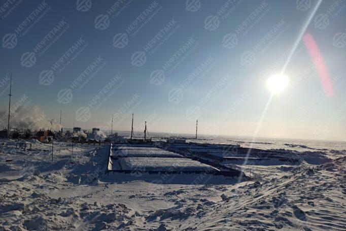 Полевой склад горючего на базе мягких резервуаров