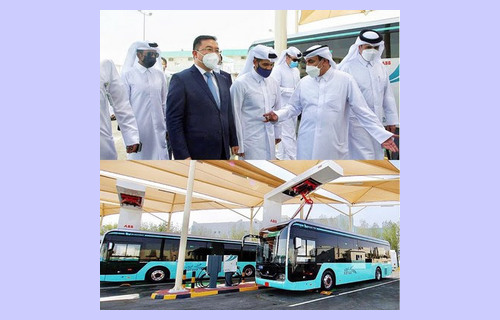 В Катаре прошло мероприятие в честь появления первого парка электробусов