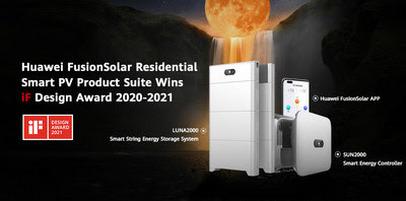 Награды iF Design удостоены продукты Huawei FusionSolar Residential Smart PV