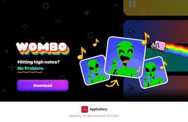 На всемирную аудиторию Huawei через AppGallery выходит WOMBO