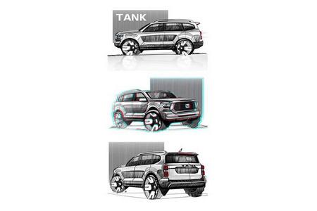 Мировая премьера TANK «Х» состоится в августе на Автосалоне в Чэнду-2021