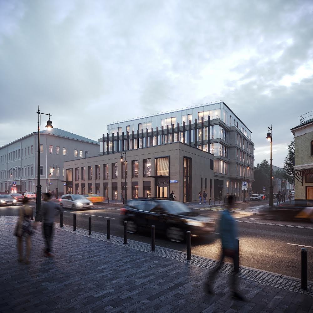 «Главстрой» показал визуализацию проекта апарт-отеля на Сретенке