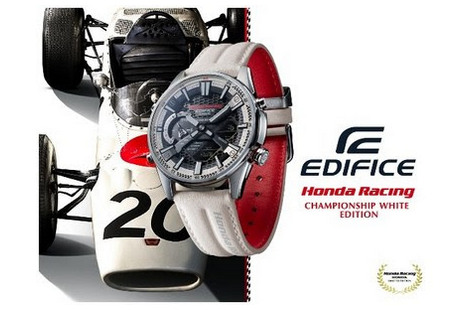 О запуске часов ECB-S100HR Honda Racing Championship White Edition объявила Casio