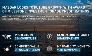 Рейтингами A2 и A+ оценивают достижения Masdar агентства Moody's и Fitch