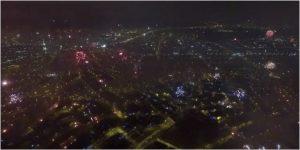 Дрон захватил невероятные кадры фейерверков 2016 над Перу