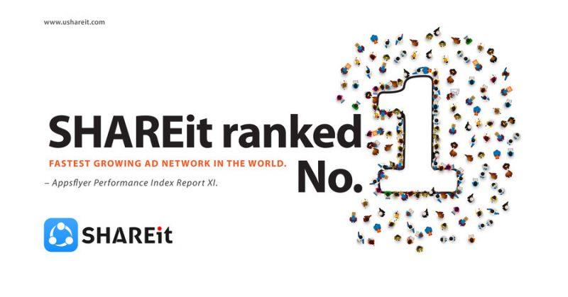 SHAREit получает высокое признание со стороны AppsFlyer Performance Index