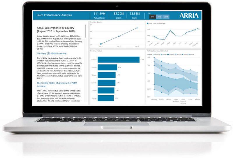 Новая надстройка Arria для  Power BI доступна на Microsoft AppSource