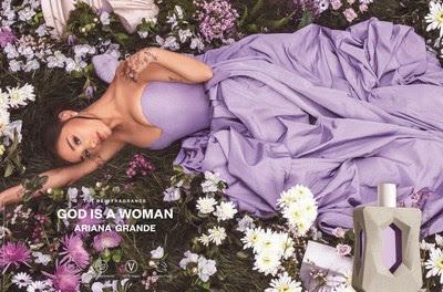 Лауреат Grammy® Ариана Гранде входит в категорию Clean Beauty с ароматом God is a Woman