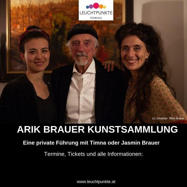 Timna_und_jasmin_brauer_f%c3%bchren_durch_die_kunstsammlung_von_arik_brauer