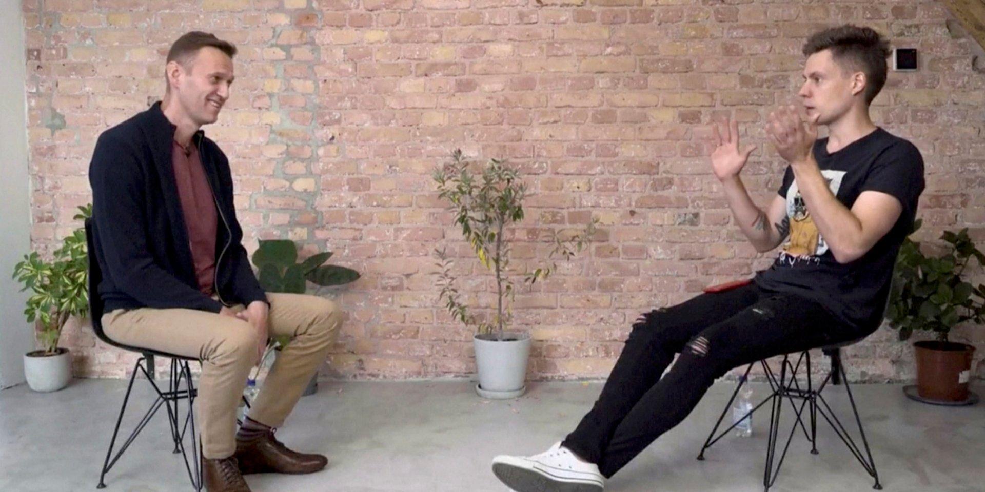 Алексей Навальный в Германии дал большое интервью