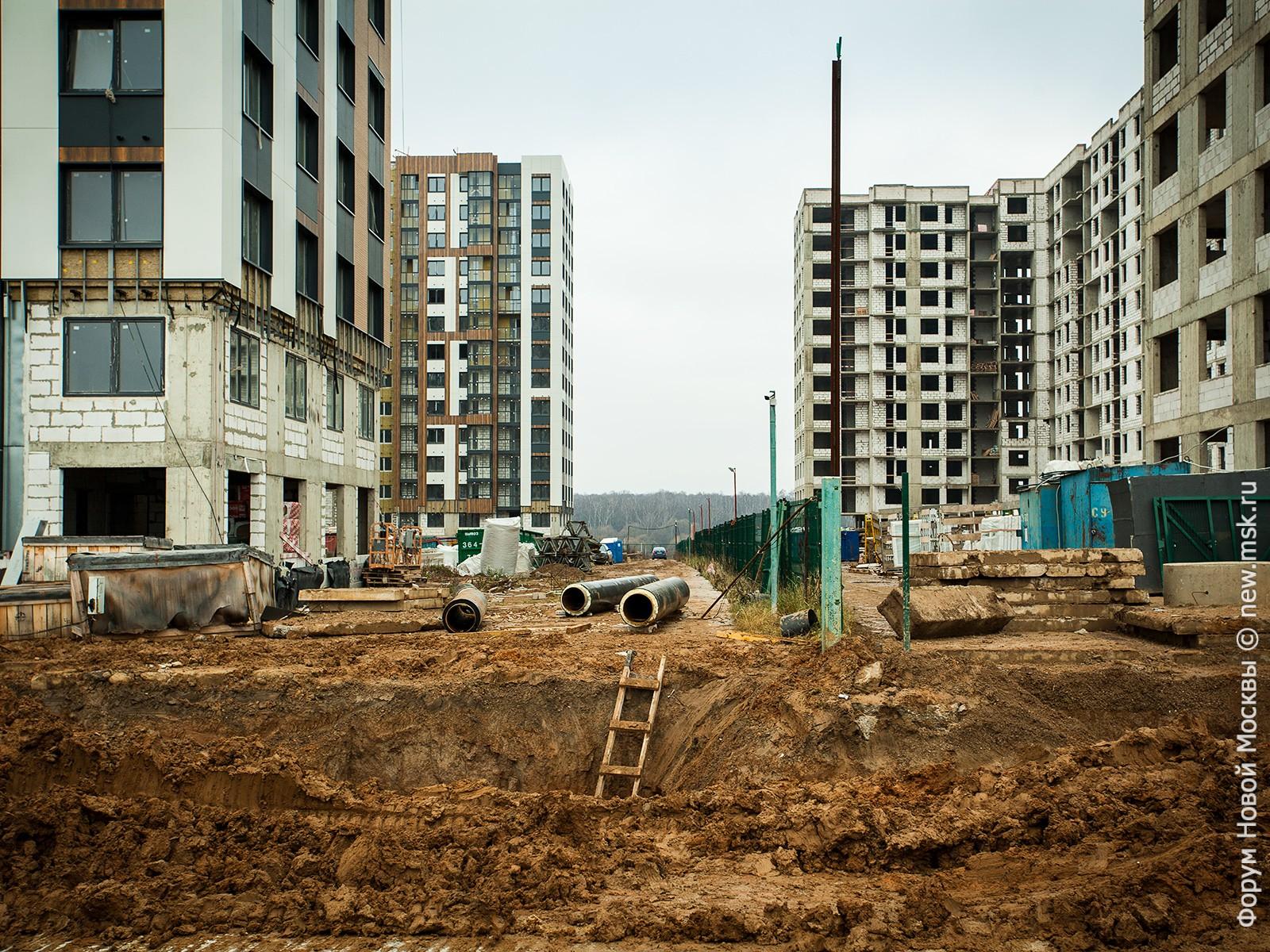 ЖК «Южное Бунино» подключен к сети Мосводоканала – жилой комплекс на финишной прямой