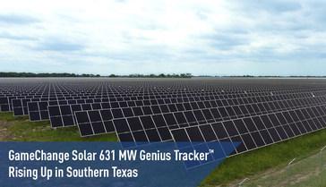 Систему Genius Tracker™ мощностью 631 МВт на юге Техаса развертывает GameChange Solar