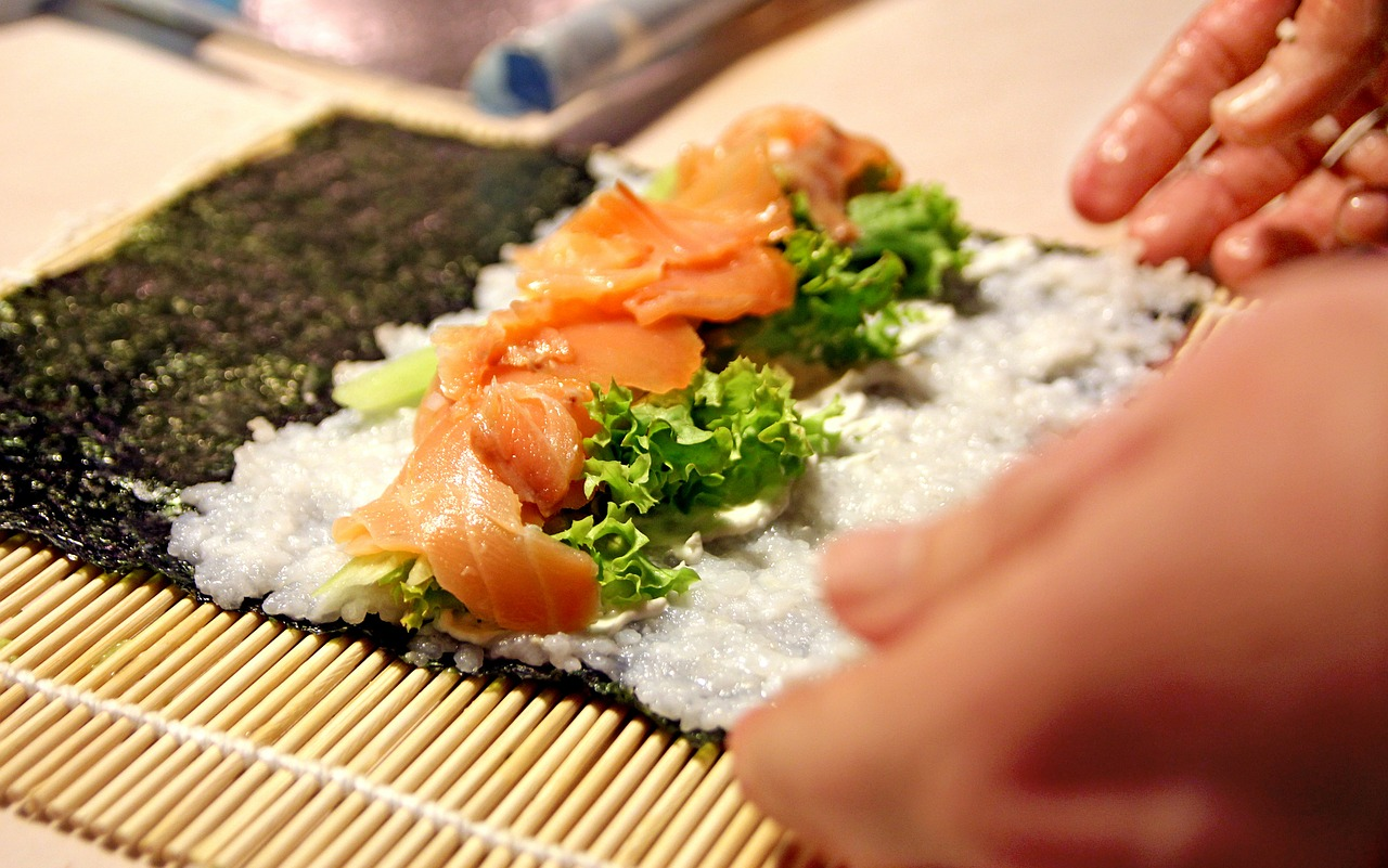 Algi w sushi