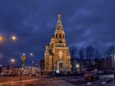 Храм Воскресения Христова со стороны колокольни