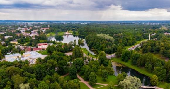 Дворцовый парк с птичьего полёта