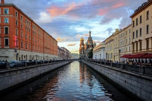 Канал Грибоедова на Невском проспекте
