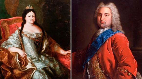 Анна Иоановна и Карл Фридрих Гольштейн-Готторпский