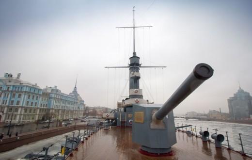 Носовое крупнокалиберное орудие Крейсера Аврора