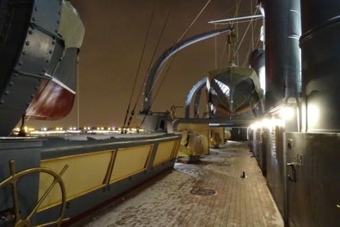 Верхняя палуба крейсера Аврора