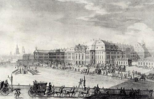 Здание Эрмитажа в восемнадцатом веке