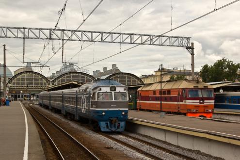 Открытые платформы Витебского вокзала