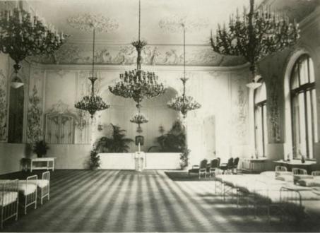 Госпиталь во дворце Белосельских-Белозерских во время Первой мировой войны
