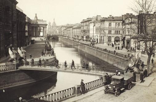 Банковский мост, предположительно 1935 год.
