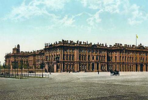 Зимний дворец на старинной гравюре