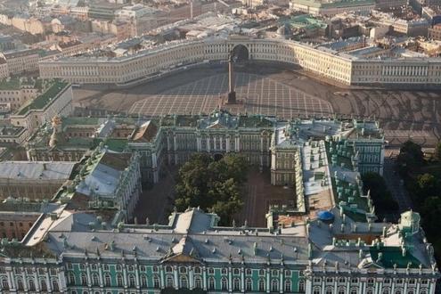 Зимний дворец. Вид сверху
