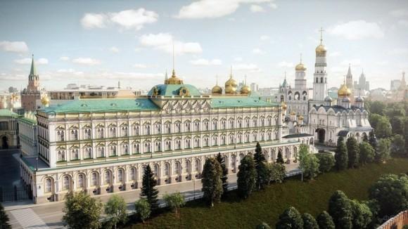 Современный вид Большого Кремлёвского дворца