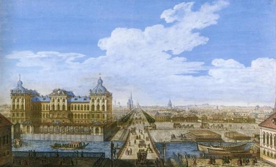 Аничков мост в XVIII веке