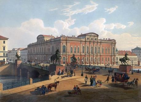 Аничков мост в XIX веке