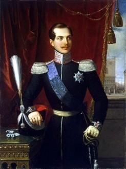 Портрет цесаревича Александра Николаевича в молодости