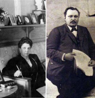Актриса Мария Савина и купец Анатолий Молчанов