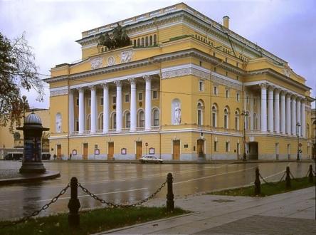 Александринский театр днем