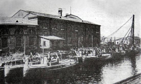 Устье реки Охты в начале XX века