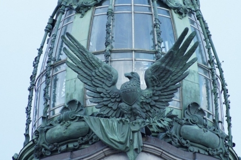 "Орел на башне дома компании ""Зингер"""