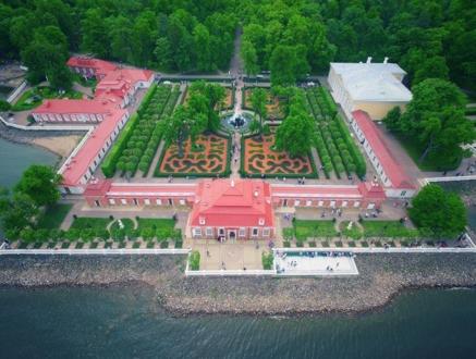 Вид на дворцовый комплекс с высоты.