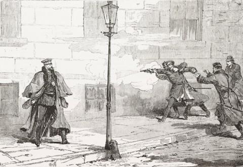 Нападение на императора Александра II (рисунок)