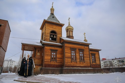 Храм Спаса Нерукотворного Образа Спасского монастыря в Якутске 2010-е годы