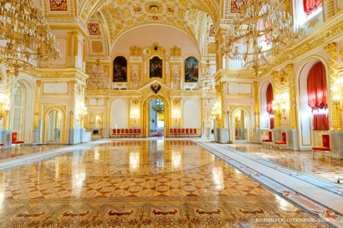 Малахитовое фойе Большого Кремлёвского дворца
