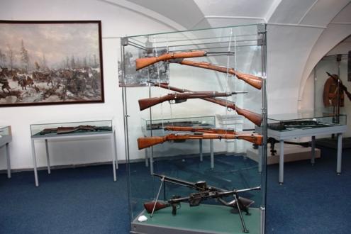 Экспозиция стрелкового оружий ХХ века