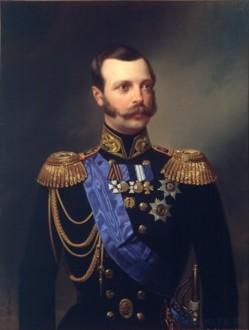 Портрет Александра II в морской форме 1855 год