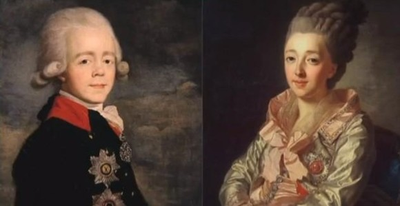 Павел I и княгиня Наталья Алексеевна