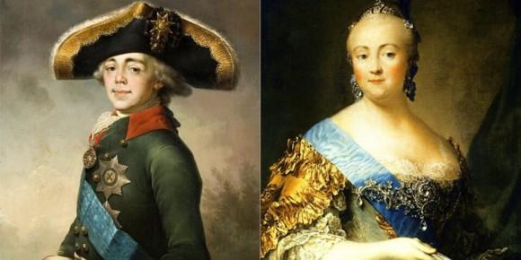 Павел I и Екатерина II