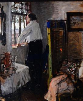 "Картина ""Петр I в Монплезире"", художник Валентин Серов (1904 год)."